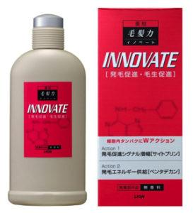 薬用毛髪力イノベートは市販製品の中で長年愛用している人が多い育毛剤