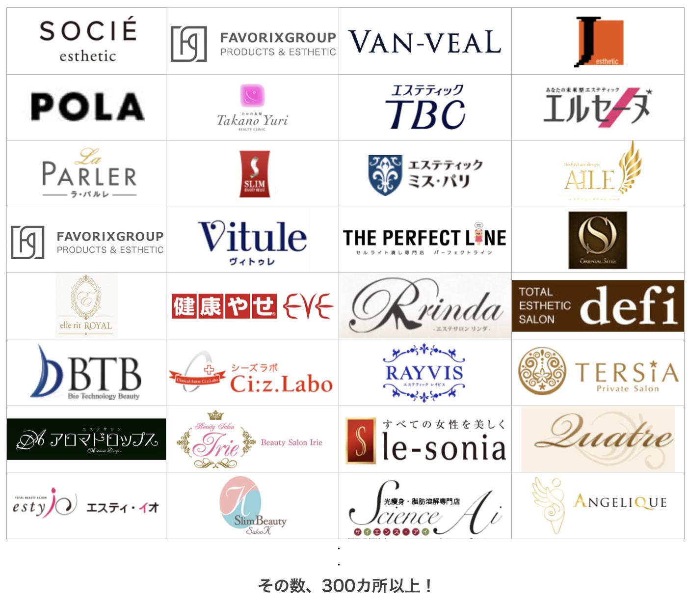 痩身エステは福岡市内だけでも300店舗以上ある!