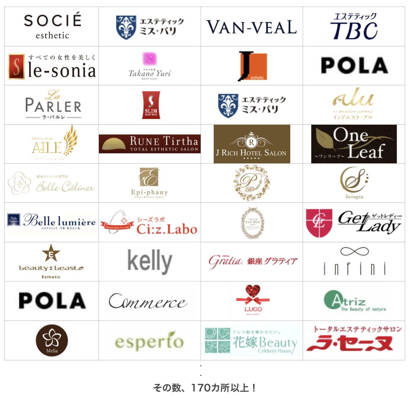 広島市内だけでも痩身エステは170店舗以上ある!