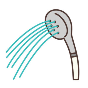 STEP1.シャンプー前にぬるま湯で洗う
