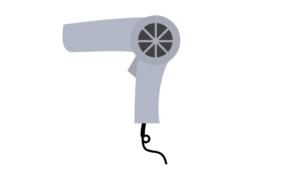 ドライヤーで髪を乾かすときは8割程度にする