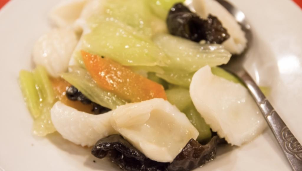 小松菜とイカの炒め物