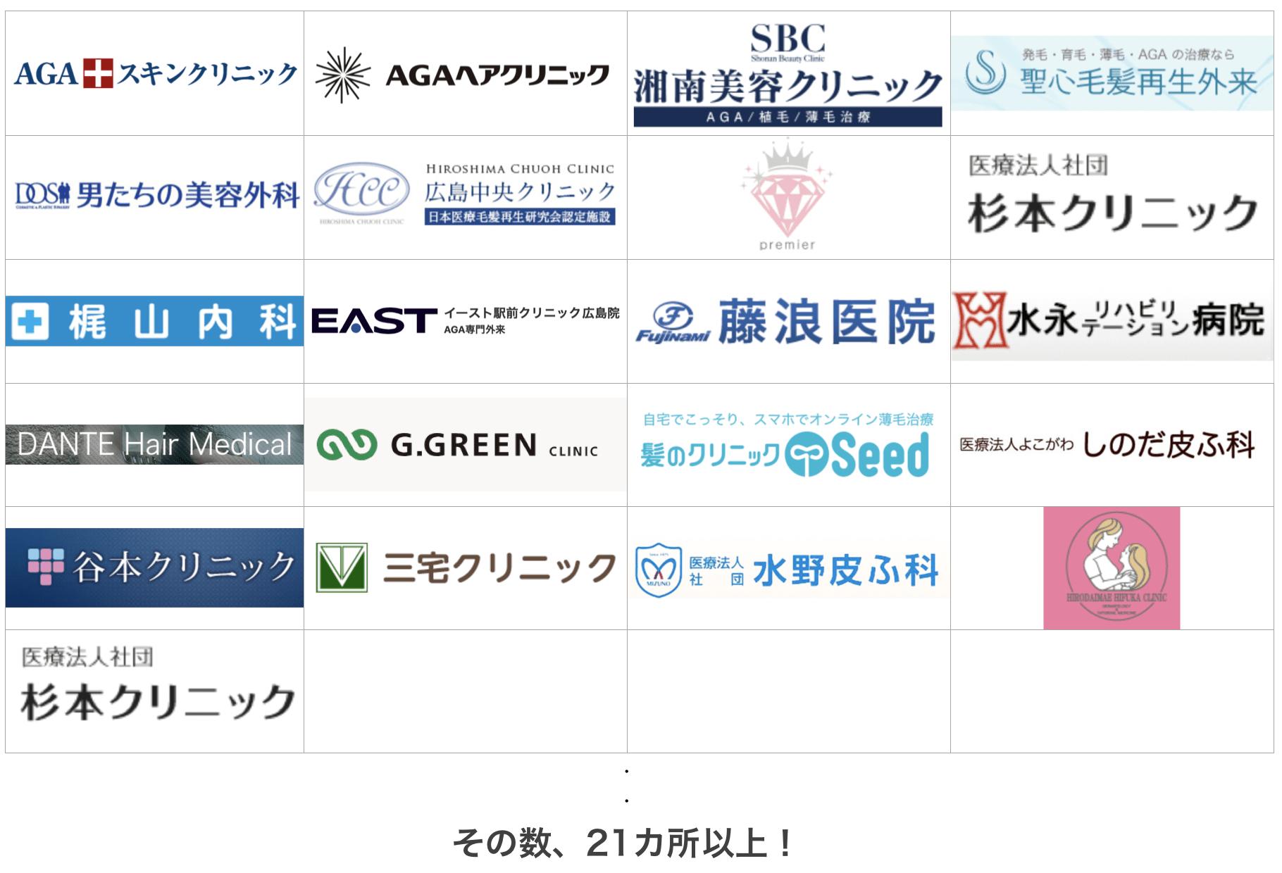 名古屋の薄毛治療クリニック21ヶ所を比較