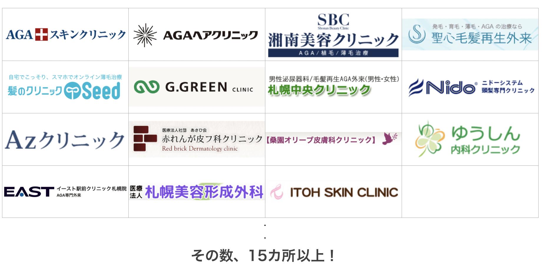 札幌の薄毛治療クリニック15ヶ所を比較
