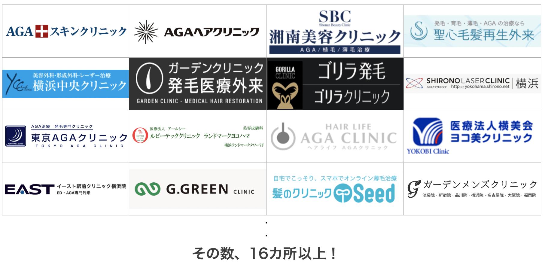 横浜の薄毛治療クリニック17ヶ所を比較