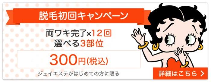 300円キャンペーンの詳細