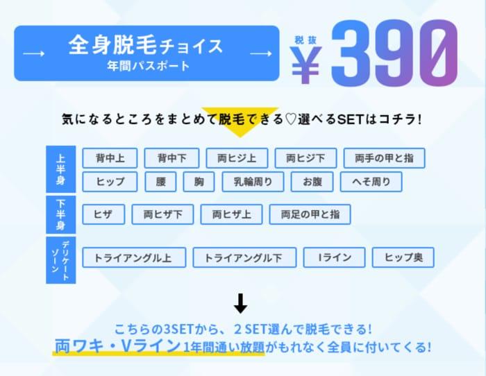 390円キャンペーンの詳細